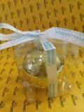 шар елочный с логотипом в прозрачной упаковке, золото